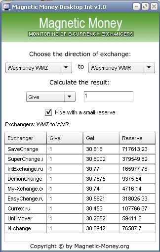 Magnetic Money Desktop Int full screenshot